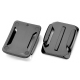 4 kusy zahnutých nalepovacích držáků