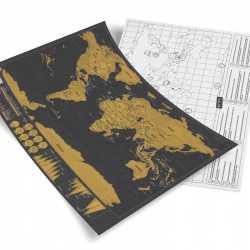 Stírací mapa světa - bez tubusu
