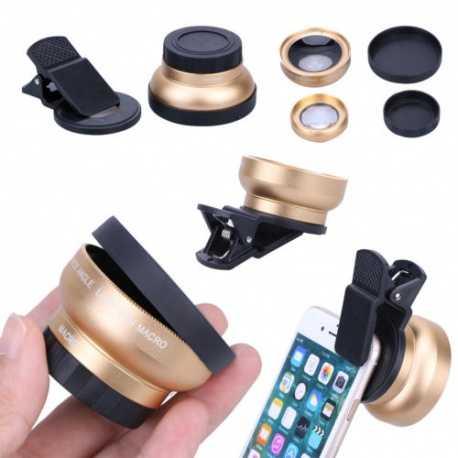2v1 objektivy Makro a Širokoúhlý pro mobil