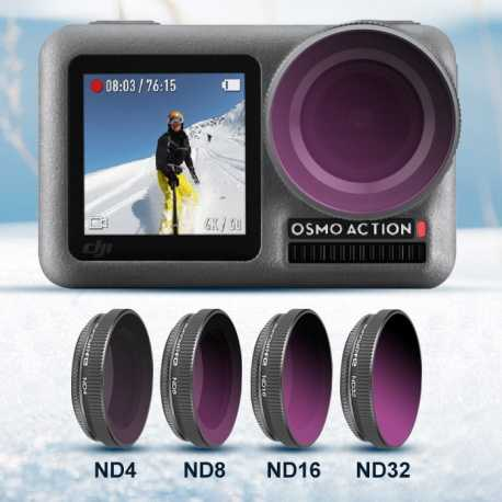 4 kusy - ND filtry pro DJI Osmo Action