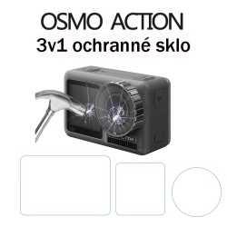 Sklo 3v1 na displej pro DJI Osmo Action
