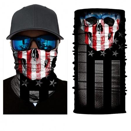 Nákrčník | šátek - Lebka USA