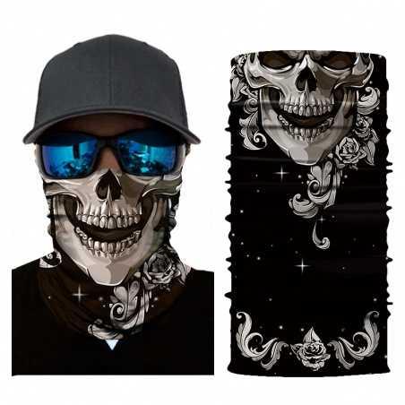 Nákrčník | šátek - lebka II